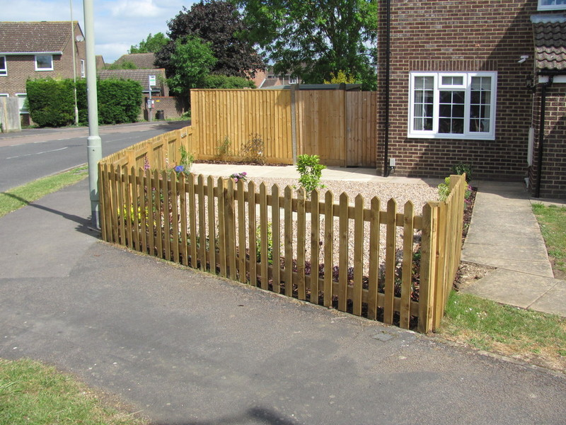 Colin m anderson garden landscaping and fencing are a for Short garden fence designs